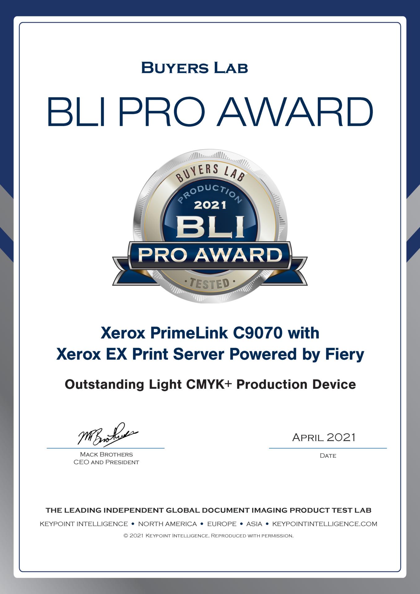 BLI-Pro-Award-2021-Certificate-PrimeLink-C9070