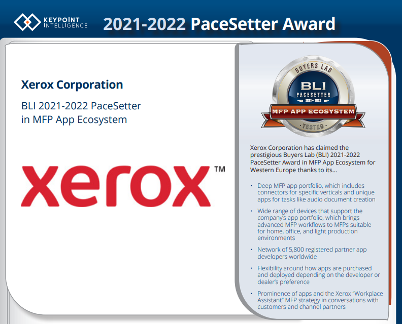 Premio PaceSetter 2021 – 2022